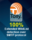 Tolly Certified: 100% SMTP